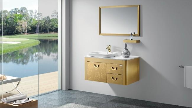 浴室柜首选材料-彩色不锈钢板材!