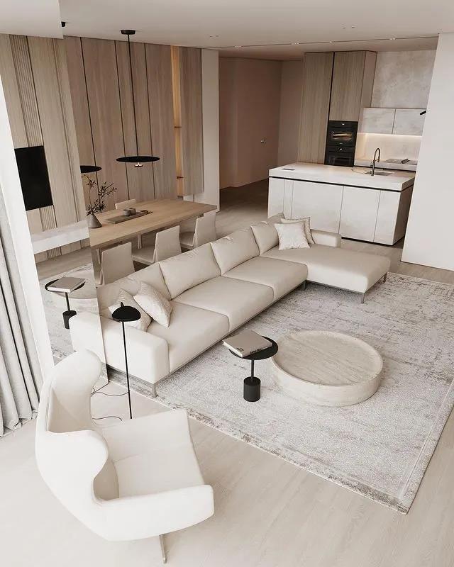 金属板覆膜(木纹)客厅