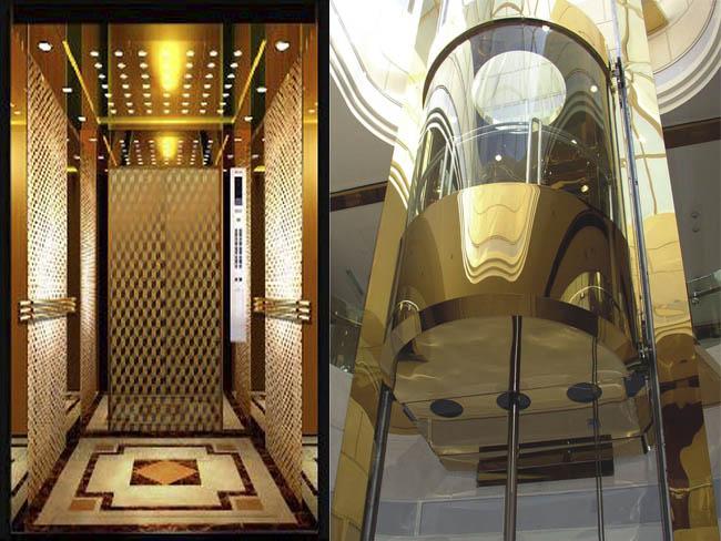 钛金板花纹蚀刻电梯板-客户案例