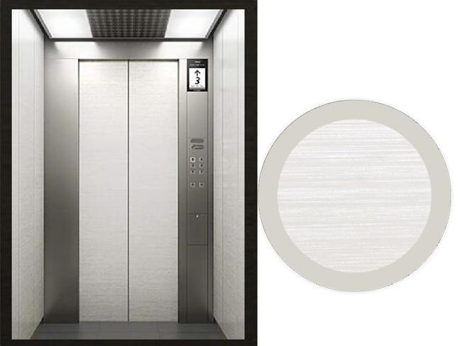 浅色木纹金属覆膜电梯-客户案例