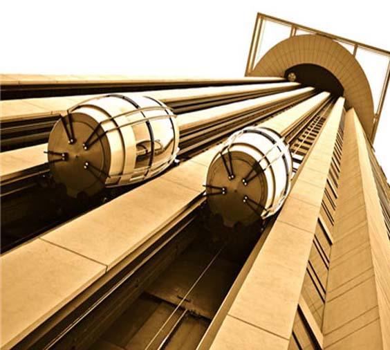 黄钛金电梯板-客户案例