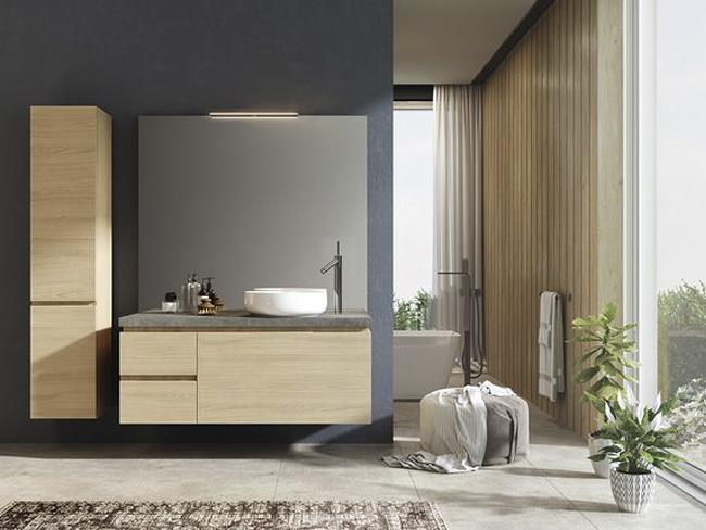 不锈钢木纹卫浴柜-客户案例