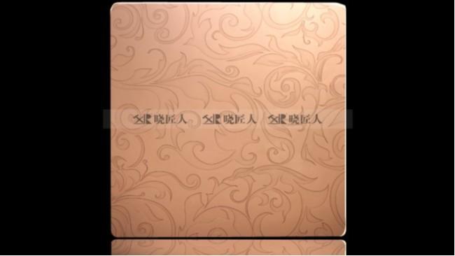 不锈钢玫瑰金蚀刻板