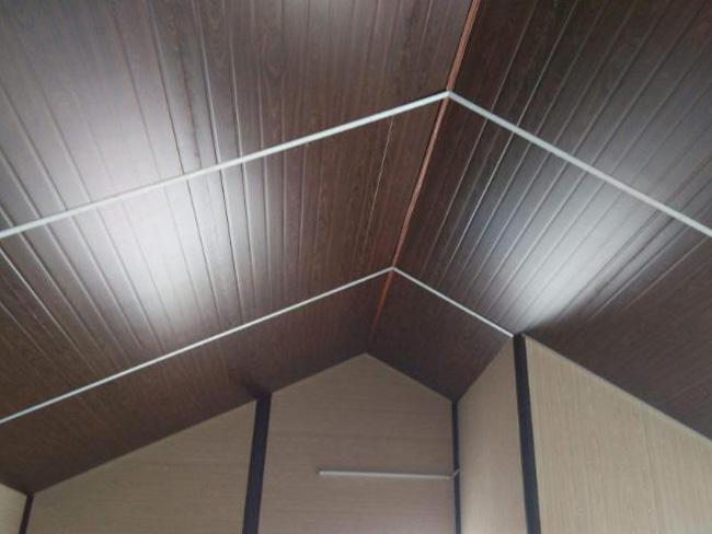 木纹金属覆膜吊顶