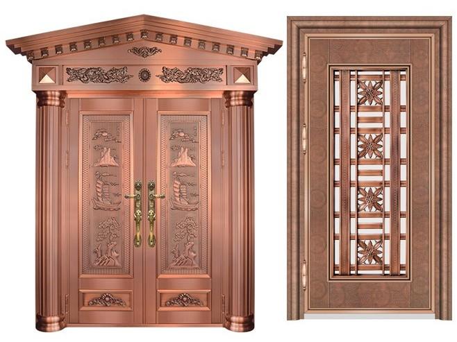 不锈钢蚀刻红古铜门-客户案例不锈钢蚀刻红古铜门-客户案例