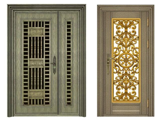 不锈钢青古铜门-客户案例