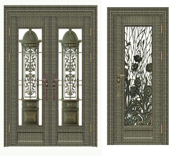 不锈钢青古铜蚀刻门-客户案例