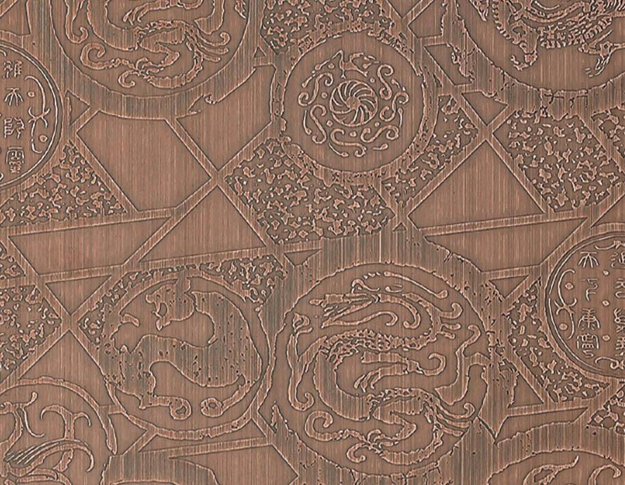 不锈钢红古铜蚀刻板