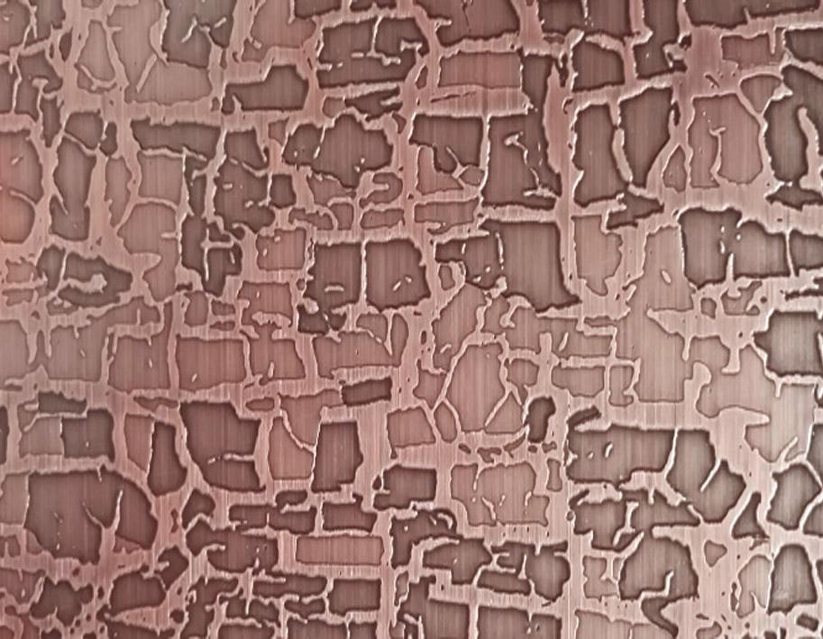 不锈钢红古铜套印板