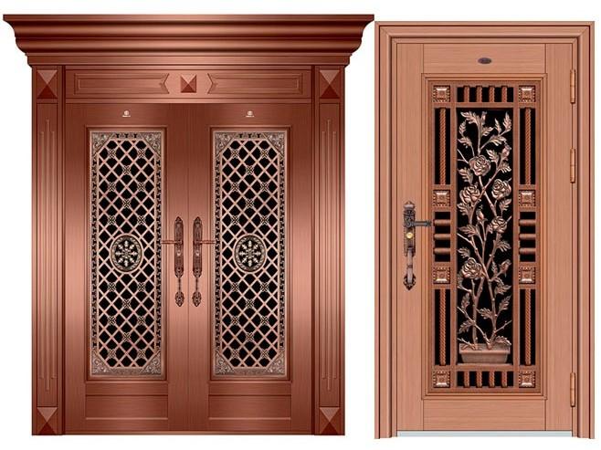 不锈钢蚀刻红古铜门-客户案例