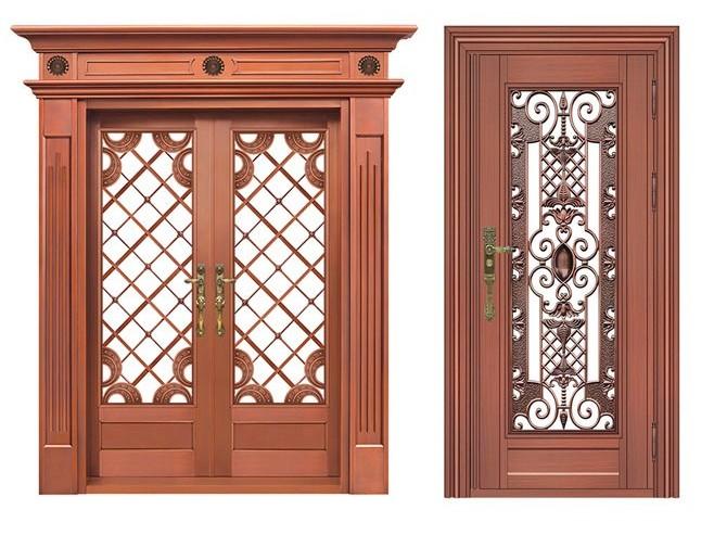 不锈钢红古铜门客户案例