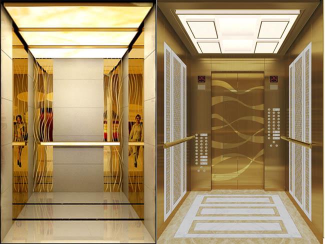 彩色不锈钢板电梯装饰-客户案例