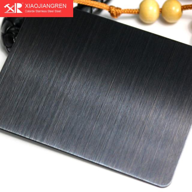 黑钛金拉丝不锈钢板